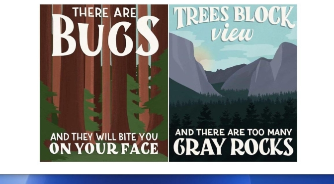 "Art & Humor: National Park Posters Based On Visitors' ""1 Star Reviews"""