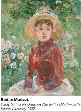 Berthe Morisot Young Girl on the Grass The Red Bodice 1885