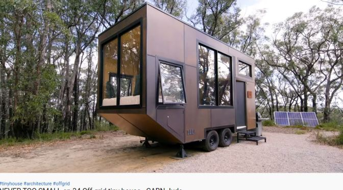 "Future Of Housing: Off-The-Grid ""CABN"" Tiny Homes In Australia (Video)"
