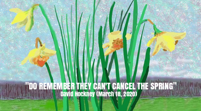 """Do Remember They Can't Cancel The Spring"" – A Message From 82-Year Old Painter David Hockney"