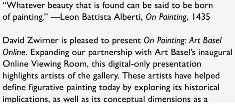 David Zwirner On Painting Art Basel Online Viewing