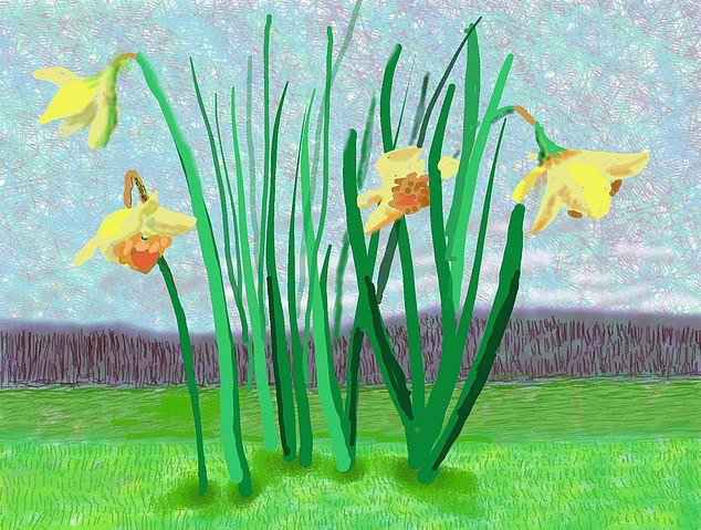 Do remember they can't cancel the spring David Hockney Daffodils March 18 2020