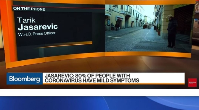 "W.H.O. Update: 80% Of ""Coronavirus/Covid-19"" Patients – ""Mild Symptoms"""