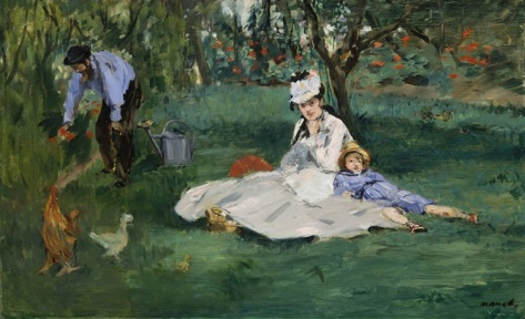 Edouard Manet The Monet Family in Their Garden At Argenteuil 1874