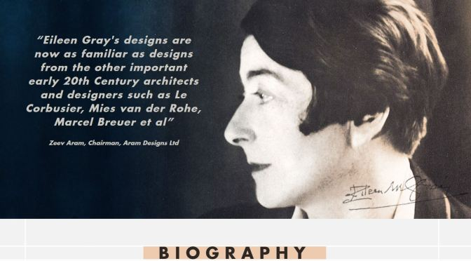 Podcast Profiles: Irish Architect And Designer Eileen Gray (1878 – 1976)