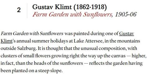Gustav Klimt Farm Garden with Sunflowers 1905-06 - Christie's Online Magazine