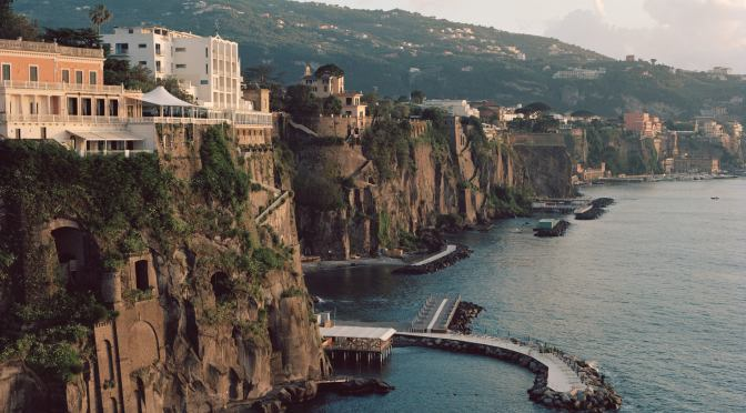 "Destination Hotels: Parco Dei Principi In Sorrento, Italy –  1960's ""Infinite Blue"""