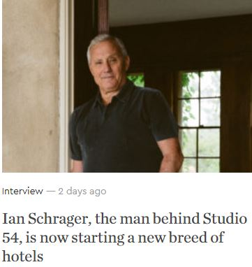 Ian Schrager Gentlemans Journal March 26 2020