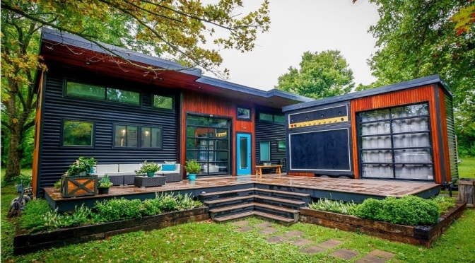 "Unique Tiny Homes: ""Amp House"" In Fayetteville, Arkansas (AD Video)"