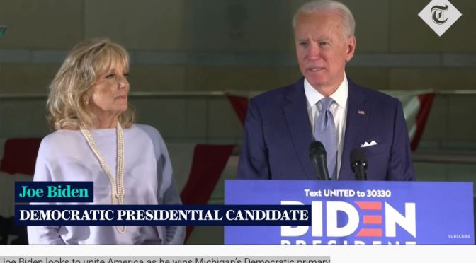 Political News: Joe Biden Wins Michigan Primary On March 10 (The Telegraph)