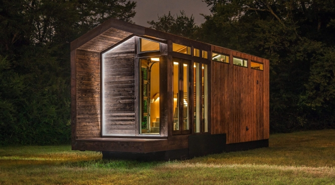 "Top New Tiny Homes: New Frontier's ""Orchid"" – ""LED Light, Full Bath Luxury"""