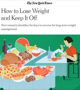 New York Times How To Lose Weight and Keep It Off Study March 16 2020