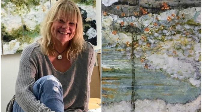 "Artist Profiles: Finnish-American Riitta Klint – ""Dreamlike"" Drips Of Paint With Pencil On Clay Panels"