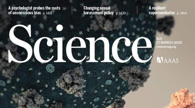 TOP JOURNALS: RESEARCH HIGHLIGHTS FROM SCIENCE MAGAZINE (MARCH 27, 2020)