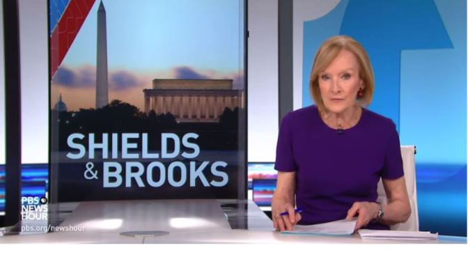"Political News: ""Shields And Brooks"" On American Life Amid A Pandemic (PBS)"