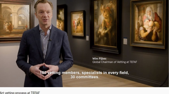 "Art Insider: ""The European Fine Art Fair"" (TEFAF) – ""Vetting Process"" (Video)"