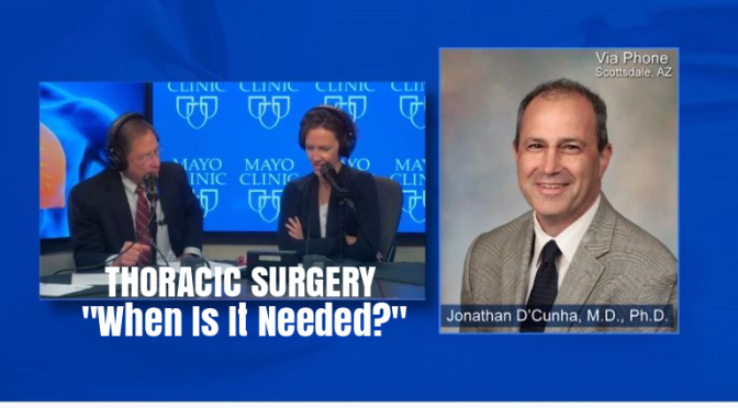 "Medical Videos: ""Thorasic Surgery"" – When Is It Needed? (Mayo Clinic)"