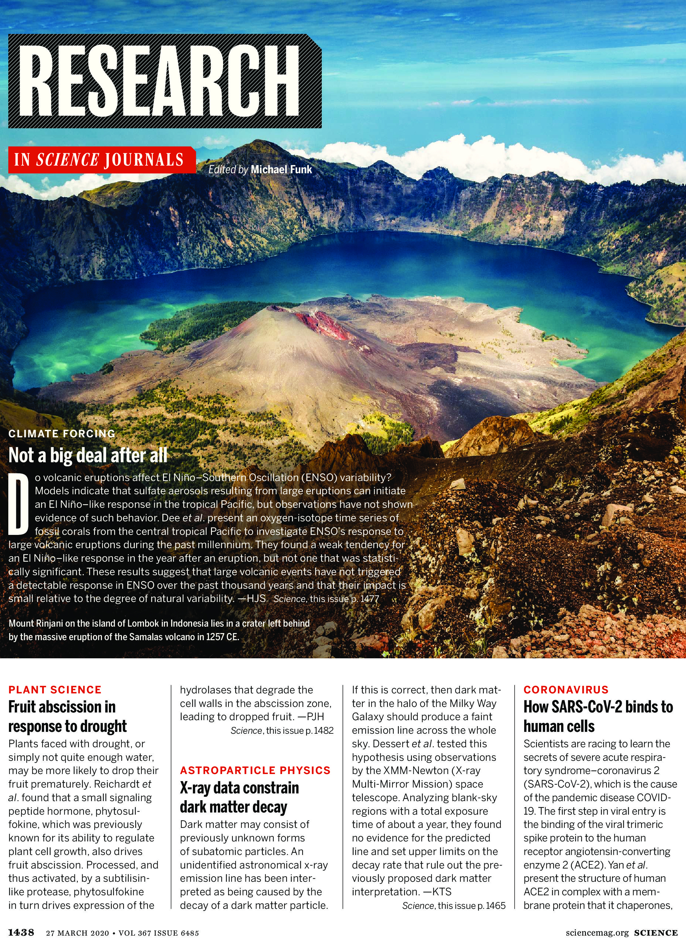 Science Magazine Research Highlights March 27 2020 page 1