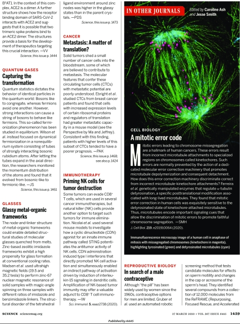 Science Magazine Research highlights March 27 2020 page 2