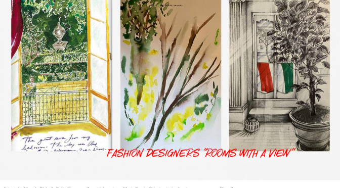 """Lockdown Art: Fashion Designers Create """"Rooms With A View"""" (Wallpaper)"""