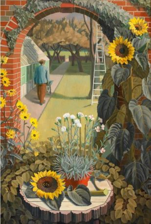 Charles Mahoney (1903-1968) The Garden 1950 LISS LLEWELLYN art website
