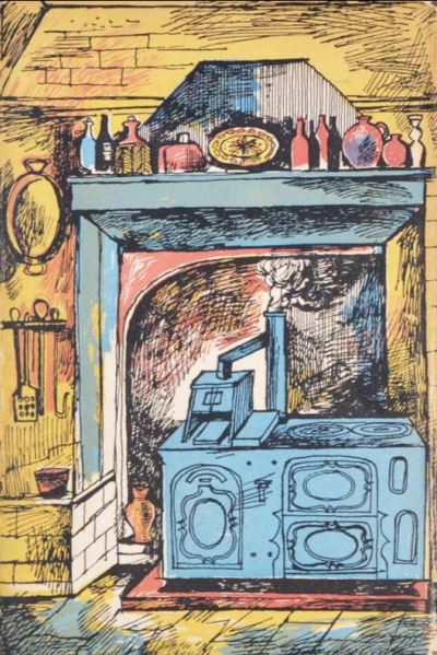John Minton Illustration for French Cooking by Eizabeth David