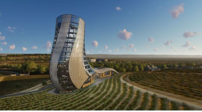 "Future Architecture: ""Oscar Seppeltsfield Hotel"" At Barossa Winery In South Australia In 2022"
