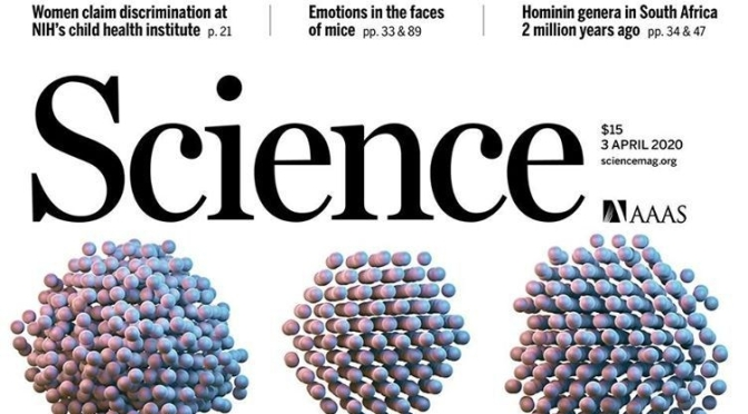 TOP JOURNALS: RESEARCH HIGHLIGHTS FROM SCIENCE MAGAZINE (April 3, 2020)