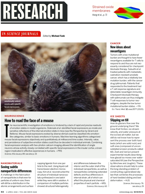 Science Magazine Research Highlights April 3 2020