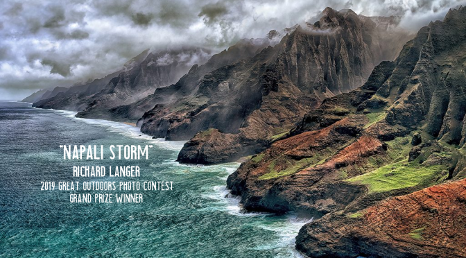 "Photography: The ""2019 Great Outdoors Photo Contest"" Winner – ""Napali Storm"" By Richard Langer"
