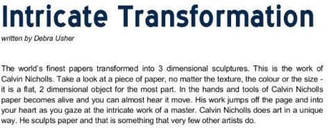 Intricate Transformation - Arabella Magazine May 2020 - Calvin Nicholls