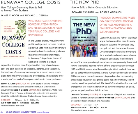 Johns Hopkins University Press New Titles for Fall / Winter 2020