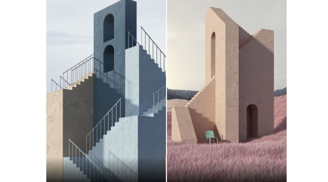 "Art & Design: ""Stairs"" By Istanbul-Based Murat Yıldırım – ""Escher Dreams"""