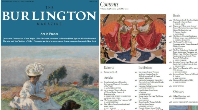 "Fine Arts: ""The Burlington Magazine May 2020"" – The Best Of Art & Its History"