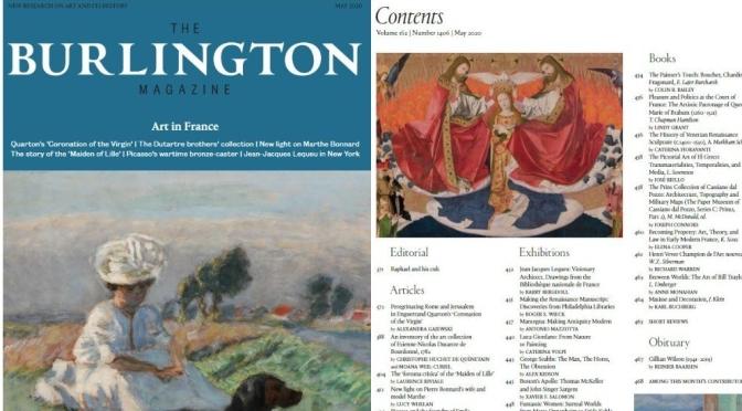 "Fine Arts: ""The Burlington Magazine May 2020"" – The Best Of Art & Its History"