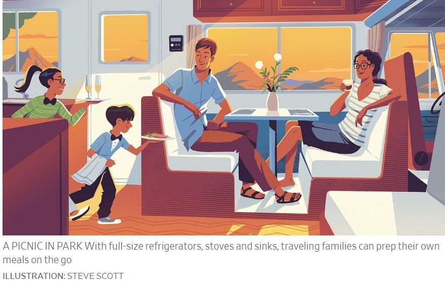 RV Vacations - Wall Street Journal - Steve Scott Illustration - May 16 2020