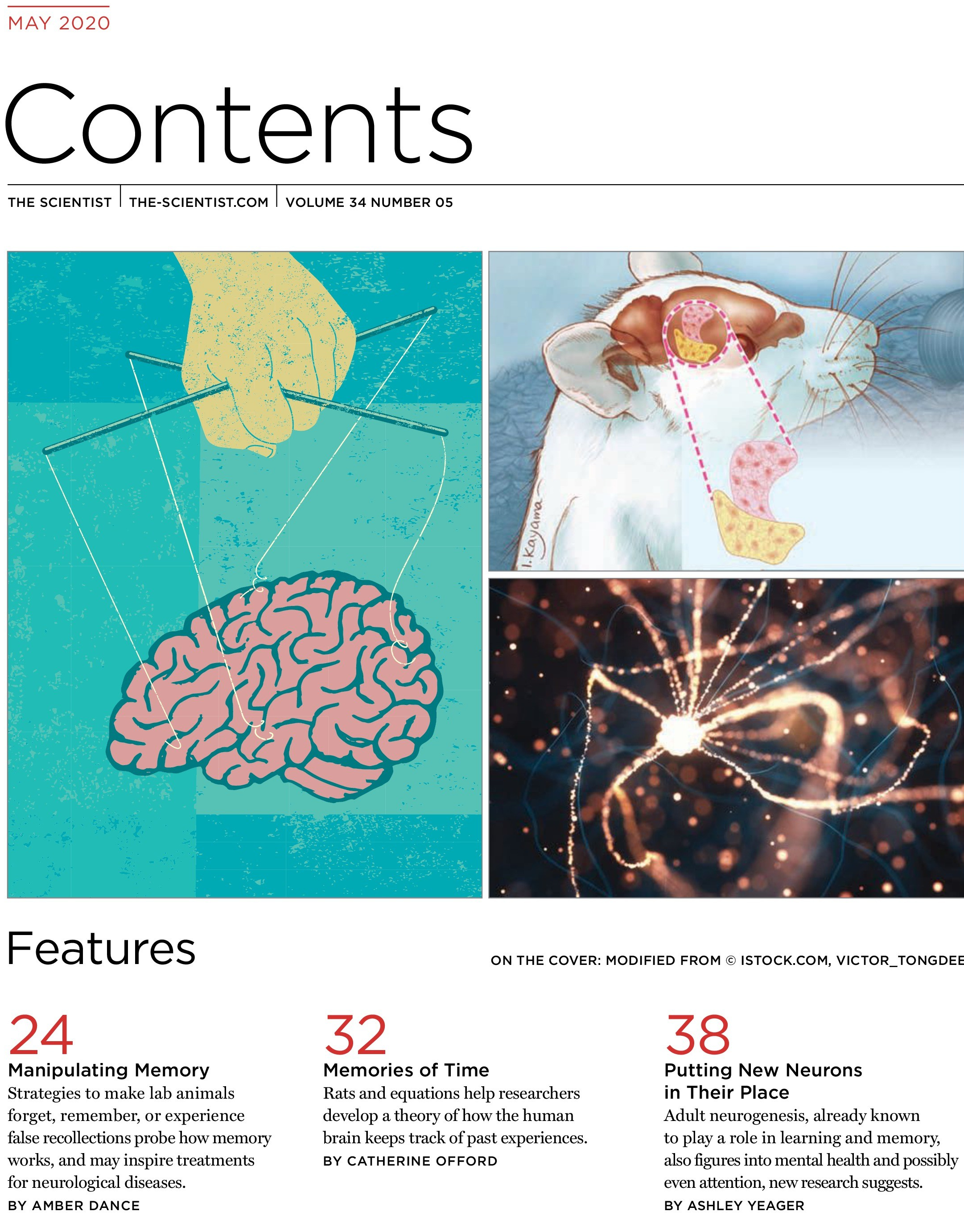 TheScientist May 2020-Table of Contents
