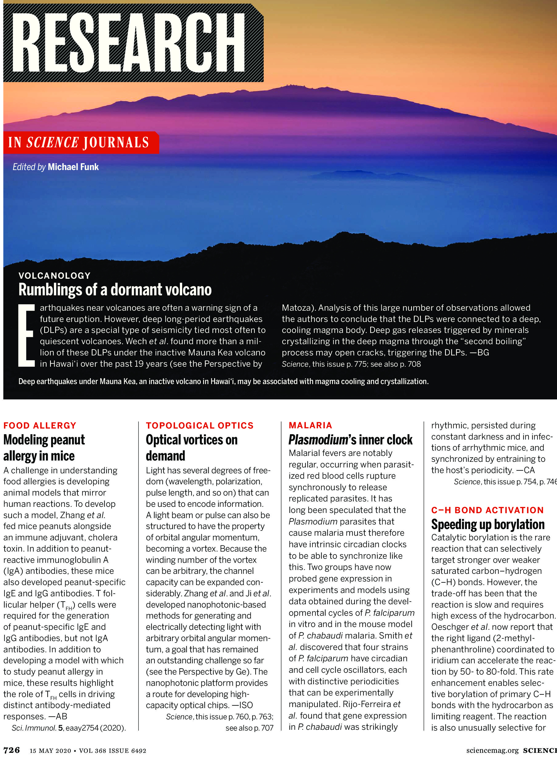 Science Magazine Research Highlights May 15 2020