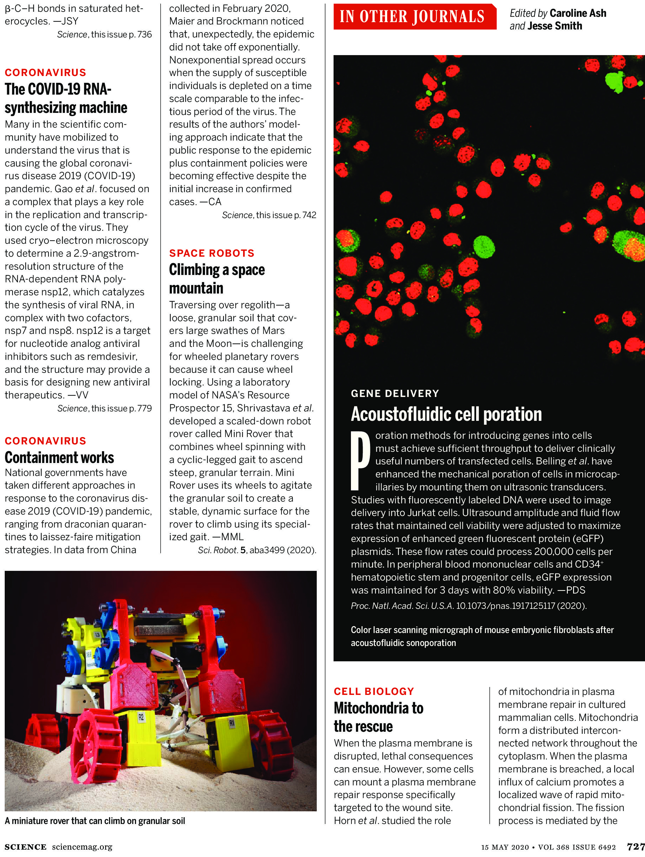 Science Magazine May 15 Research Highlights