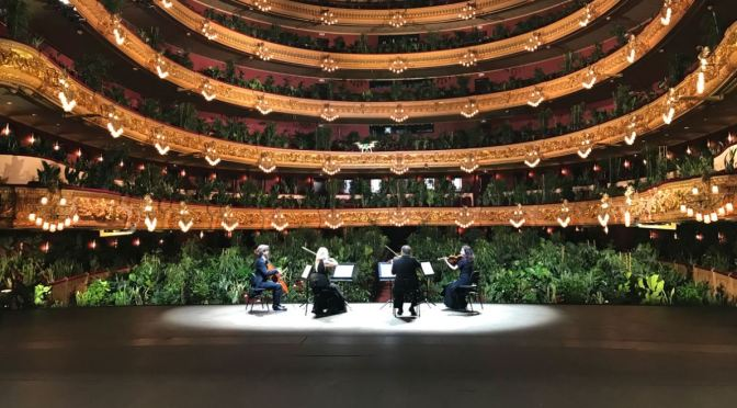 "Post-Covid Concerts: Barcelona's ""Gran Teatre Del Liceu"" – Live Audience Of 2,292 Plants (Video)"