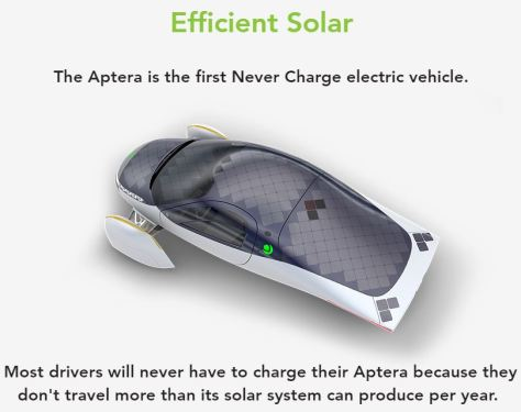 Aptera Solar Powered Electric Vehicles