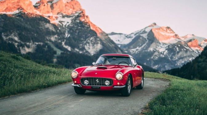 "Travel & Driving Videos: A ""1961 Ferrari 250 GT SWB Berlinetta"" In Swiss Alps"