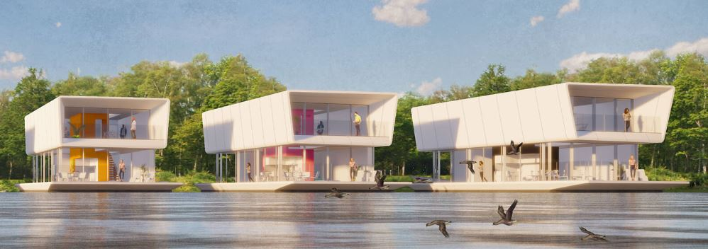 Modular Water Dwellings - Grimshaw Architects + Concrete Valley - 2020