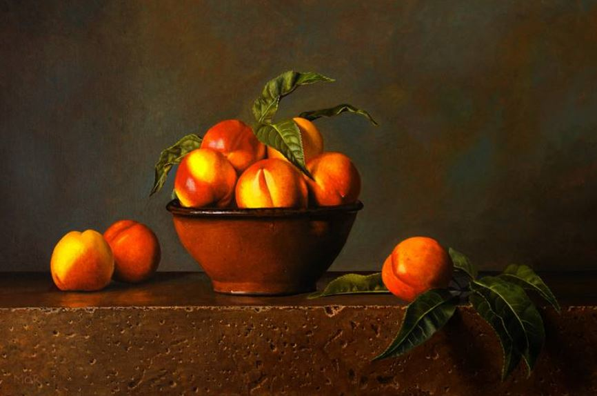 Nectarines and Terracotta Bowl - Dietrich Moravec