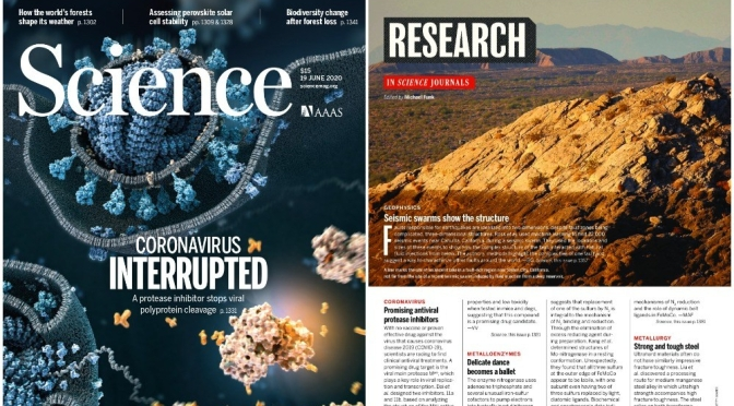 TOP JOURNALS: RESEARCH HIGHLIGHTS FROM SCIENCE MAGAZINE (JUNE 19, 2020)