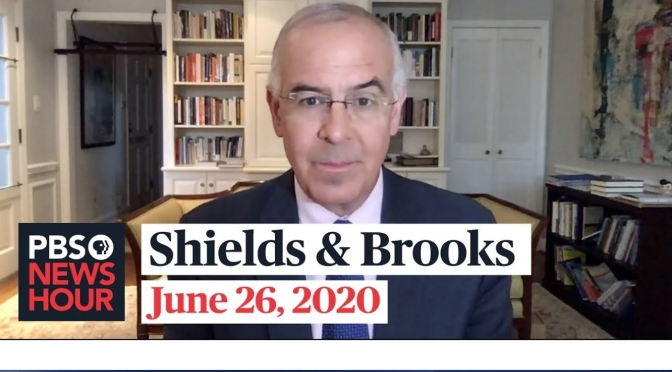 """Political News: """"Shields & Brooks"""" On The 2020 Presidential Race (PBS)"""