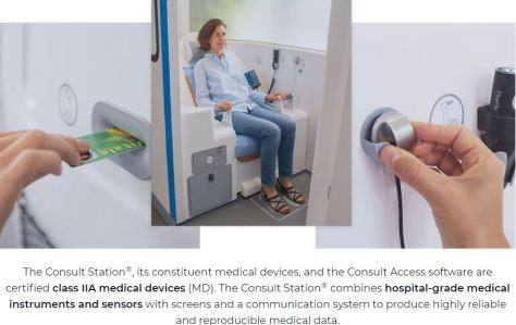The Consult Station - First Connected Local Telemedicine Booth - H4D