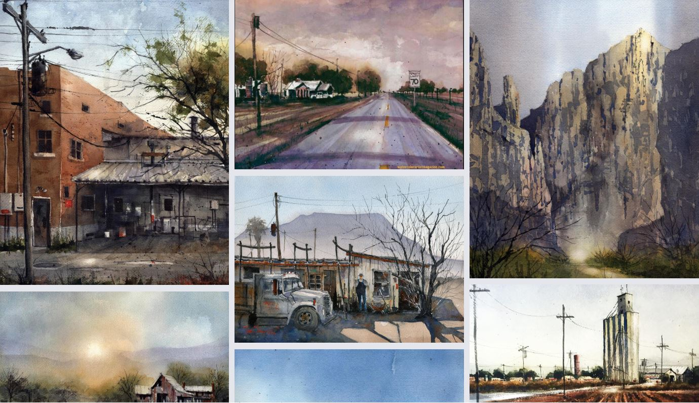 Tim Oliver Watercolors Paintings