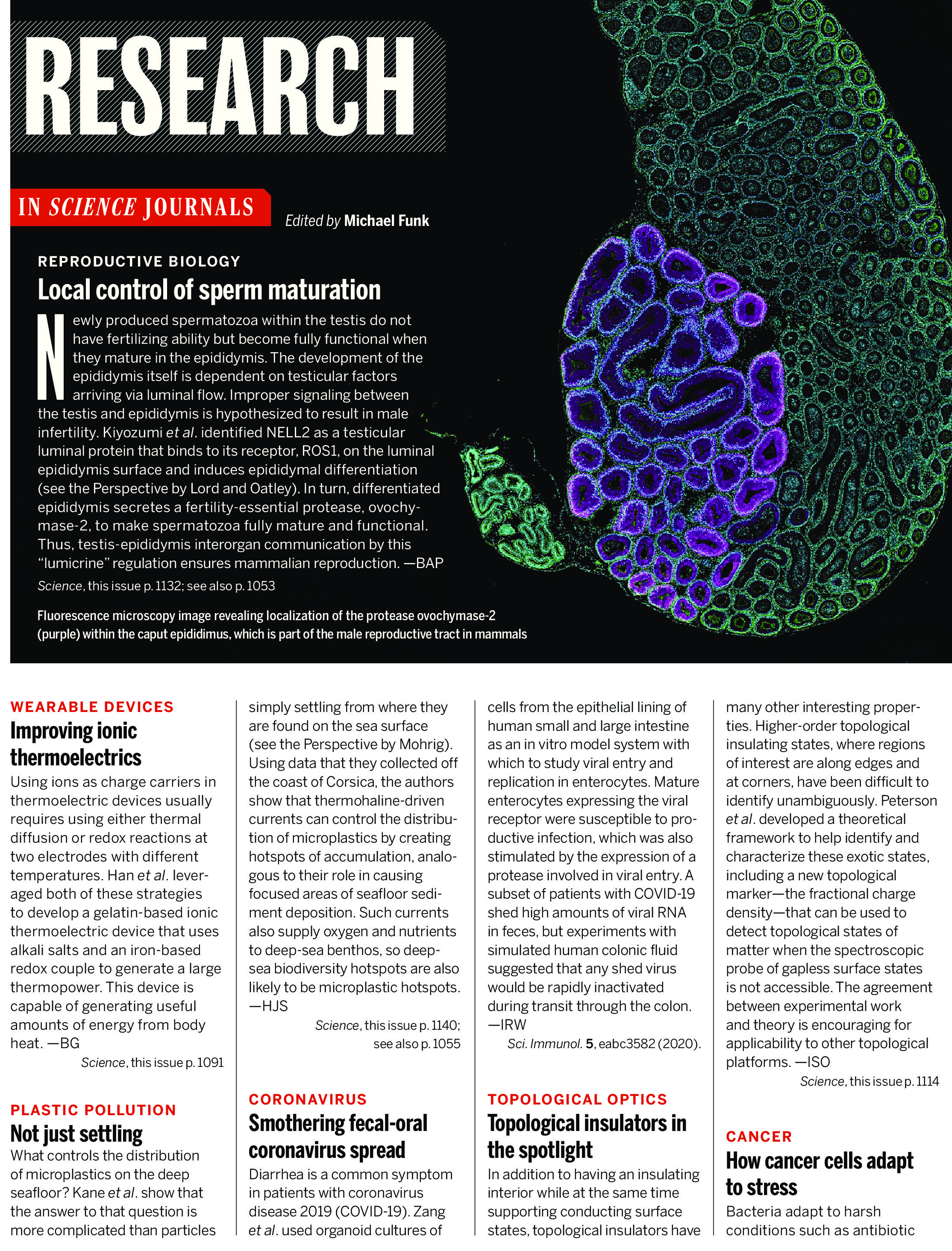 SCIENCE MAGAZINE RESEARCH HIGHLIGHTS - JUNE 5 2020