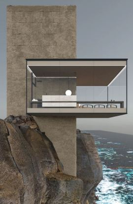 "Yakusa Design - ""AIR"" - CLIFF HOUSE - 2020"